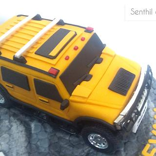Remote operated moving hummer cake