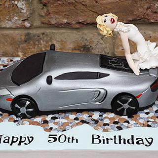 McLaren Super Car and Marilyn Monroe