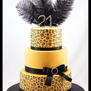 Leopard Print 21st - Cake by Jo Kavanagh