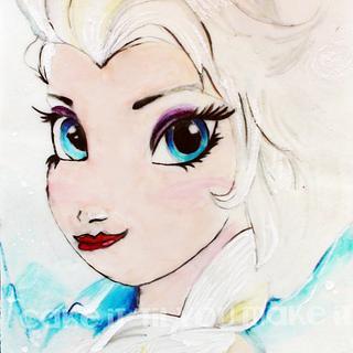 Elsa Edible Plaque