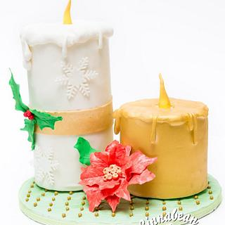 Christmas Candle Cake - Cake by Dkn1973