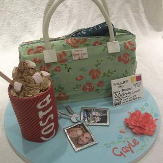 40th birthday  handbag cake