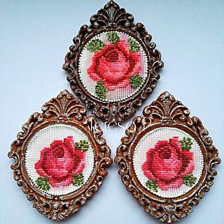 Róża w ramce z piernika