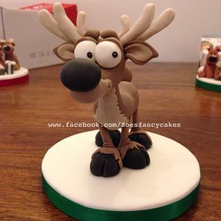Reindeer cake topper