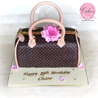 Louis Vuitton inspired bag cake - Cake by Cakes Inspired by me