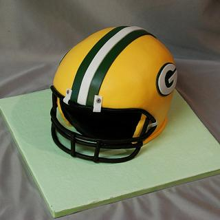 Green Bay Packers football helmet cake - Cake by The Cake Life