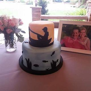 Fishing themed Grooms cake