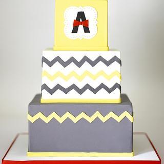 Chevron Birthday Cake