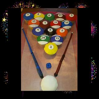 Billiards Cupcakes - Cake by Bronecia (custom cakes)