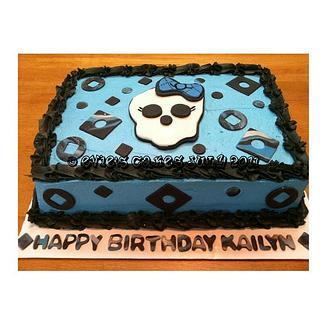 Blue Monster High Cake