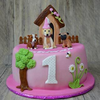 Cake with Dogs - Cake by JarkaSipkova