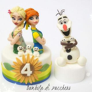 Frozen Fever Topper and Olaf