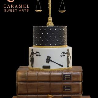Law Justice Cake - Cake by Caramel Doha