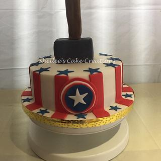 Marvel Captain America & Thor cake