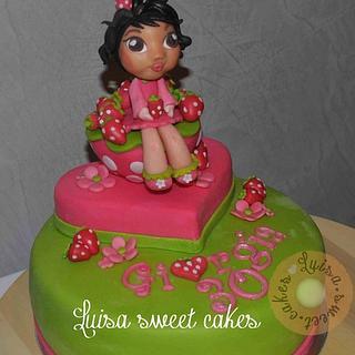 Strawberry girl's cake