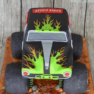 """Grave Digger"" birthday cake"
