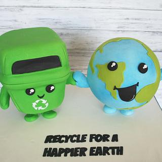 Recycle for A Happier Earth!