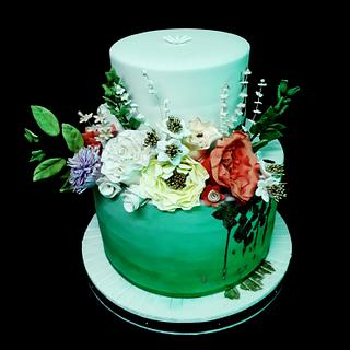 Cake Floral - Cake by Nurisscupcakes