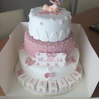 Butterfly christening cake  - Cake by Kirsty