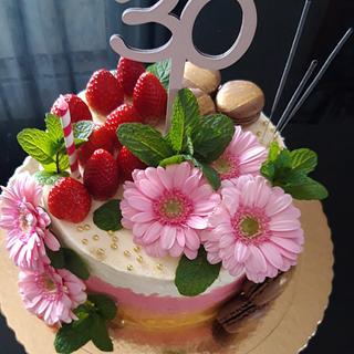 30th brithday cake - Cake by The Bistro Cake Designer