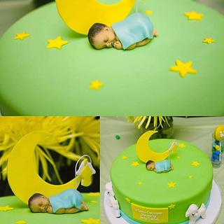 Lullaby Baptism Cake - Cake by 6 Bittersweets (Xiaolu)