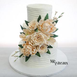 buttercream flowery cake