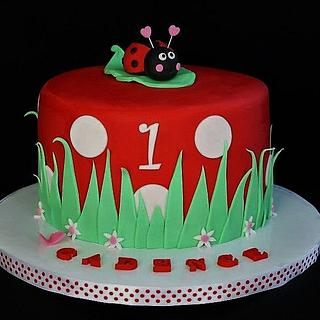 Ladybug Cake - Cake by CakeCreationsCecilia