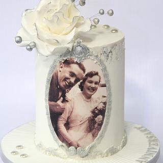 Diamond Anniversary Cake - Cake by Cake Addict