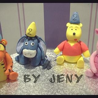 Winnie the Pooh and hiw friends! - Cake by Jeny Dogani