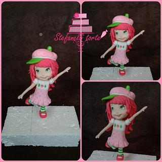 strawberry shortcake cake topper