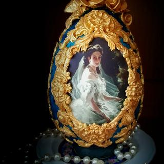 Faberge' inspired chocolate Easter egg