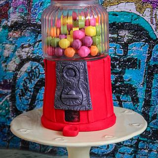 Old Fashioned Gumball Machine Cake