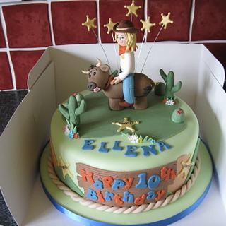 Rodeo Birthday Cake - Cake by Deborah Cubbon (the4manxies)