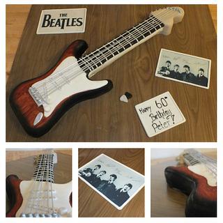 beatles guitar cake