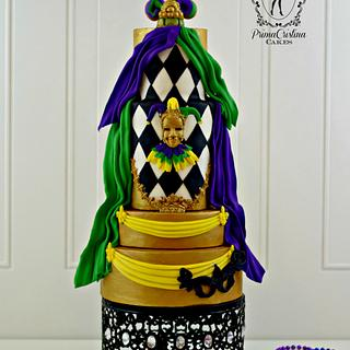 Couture Cakers Mardi Gras Collaboration - Cake by PrimaCristina