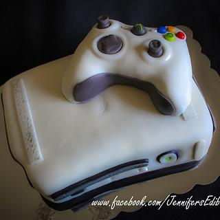 X-Box Groom's Cake with Controller - Cake by Jennifer's Edible Creations