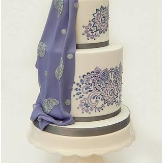Saree Inspired Hand Painted 18th - Cake by Sugargourmande Lou