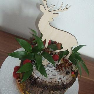 Stump with deer - Cake by Vebi cakes