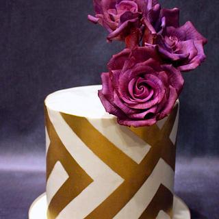 Rose.Gold.Cake!