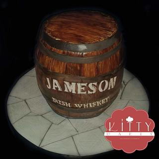 mini jameson whiskey barrel
