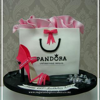 Pandora Gift Bag Cake