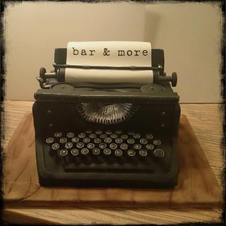 typewriter - Cake by nef_cake_deco