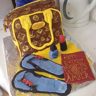 my sisters 24th birthday cake
