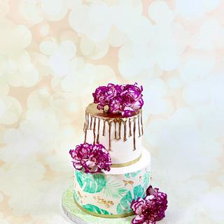 Tropical baby shower cake - Cake by soods