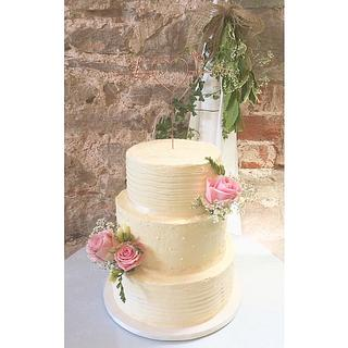 Swiss Meringue Buttercream Wedding Cake