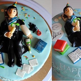 Law student birthday cake