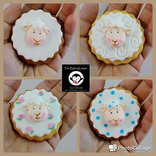 Handpainted Sheep Cookies