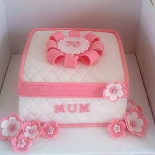 quilted box cake
