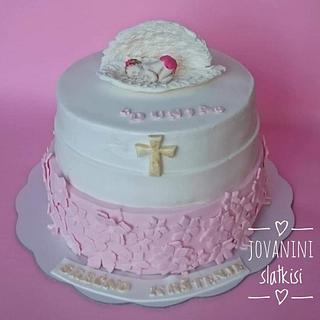 Cristening cake for baby girl