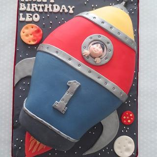 First Birthday Rocket Cake